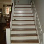 Red Oak Treads with Painted Risers
