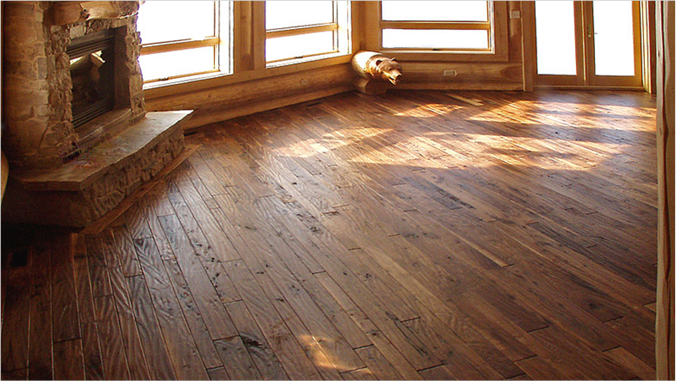 Hand Scraped Walnut Floor - Hand Scraped Ozark Hardwood Flooring