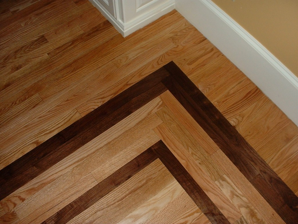1 Red Oak With A Walnut Border Ozark Hardwood Flooring