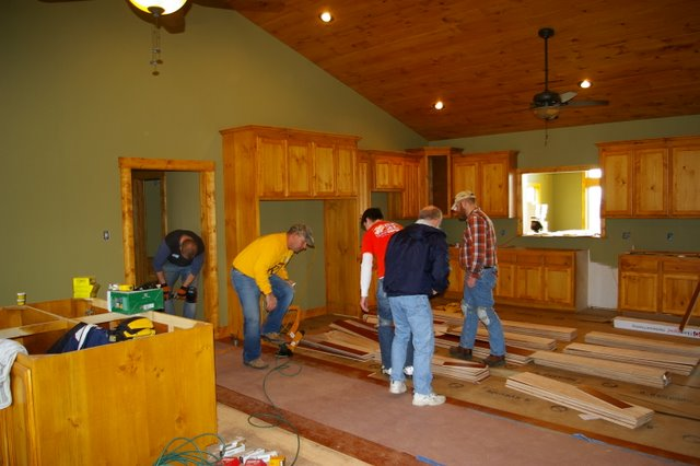 Installation Of A Prefinished Floor At Renewal Ranch In