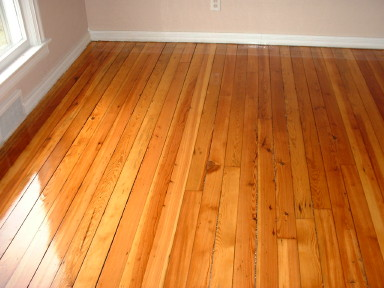 Same Old Pine Floor After Refinishing