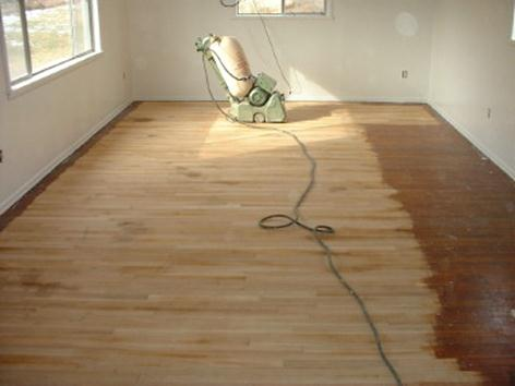 Refinished Year Old Pine Floor Ozark Hardwood Flooring