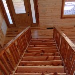 Rustic Hickory Floor with Cedar Stairs