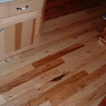 Rustic Hickory Floor in a Cabin