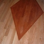 Cherry Diamond Inlay in Red Oak Floor