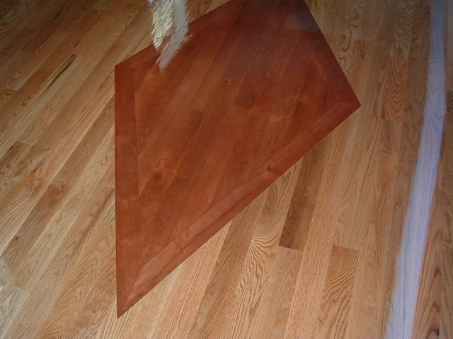 Cherry Diamond Inlay In Red Oak Floor Ozark Hardwood