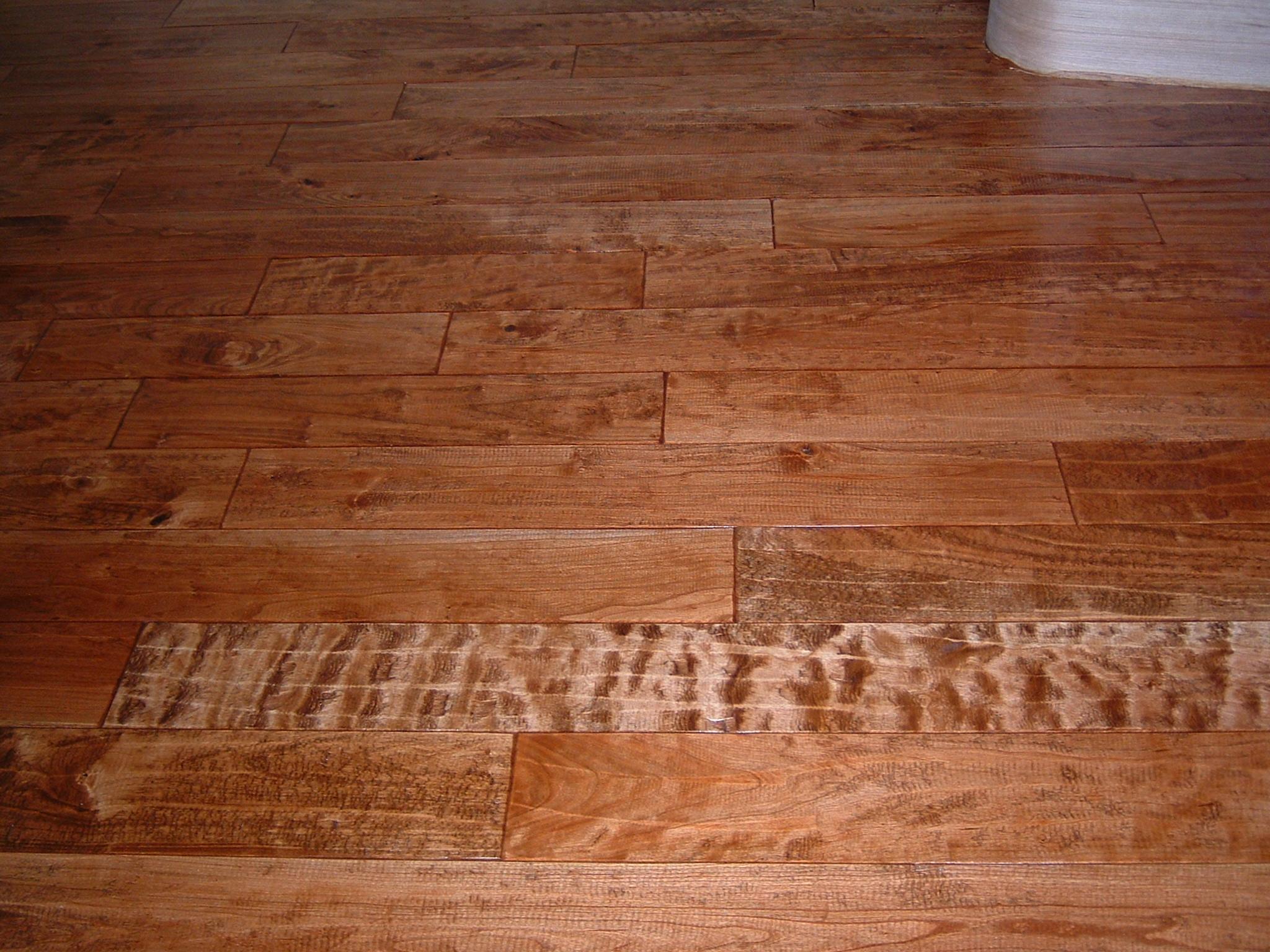 Hand Sed Cherry Ozark Hardwood Flooring