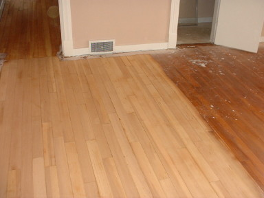 60 Year Old Pine Floor Under Years Of Varnish And Wax