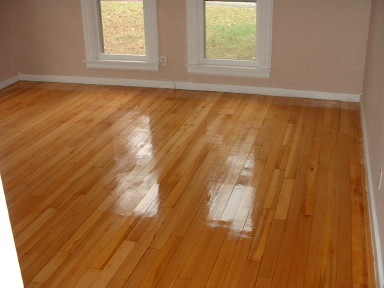 Old Pine Floor After Refinishing